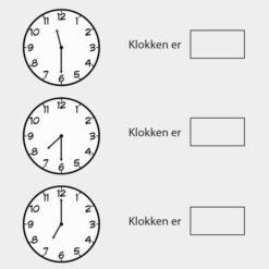 Lær klokken - halve timer