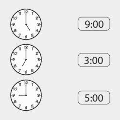 Lær klokken - hele timer