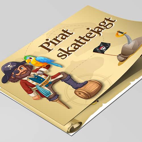 Pirat skattejagt for 6-8 årige piger og drenge