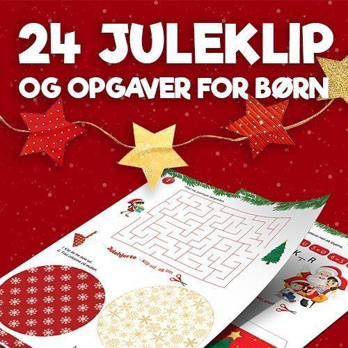 Julekalender - 24 juleklip og opgaver for børn