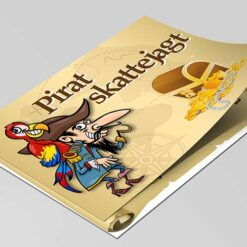 Pirat skattejagt til børn på 4-5 år