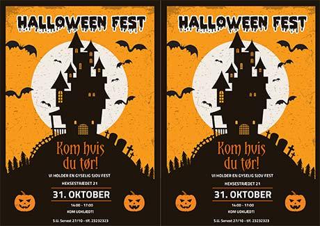 Halloween indbydelse