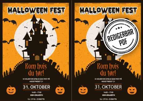 Invitation til Halloween fest