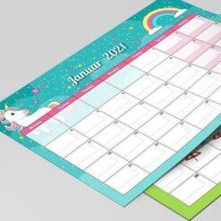 Kalender til børn - enhjørning