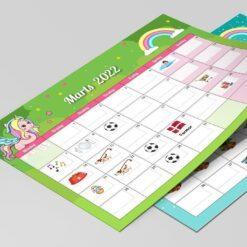 Kalender til børn - Enhjørninger