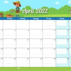 Kalender til børn med årstider