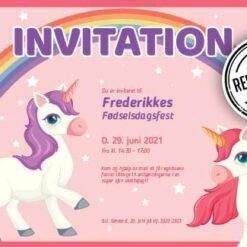 Invitation til Enhjørning festen