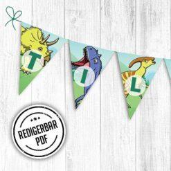 Dinosaur fødselsdagsbanner